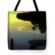 Dusky At Sunset, And A Palm Tree Tote Bag
