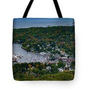 Early Fall Colors Of Camden Maine Tote Bag by Jeff Folger