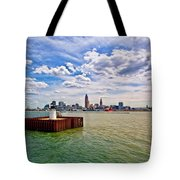 East Pierhead Lighthouse View Of Cleveland Tote Bag