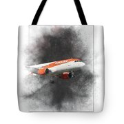 Easyjet Airbus A319-111 Painting Tote Bag