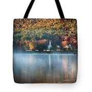 Eaton Nh Little White Church With Fall Foliage Tote Bag by Jeff Folger