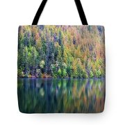Echo Lake Autumn Shore Tote Bag
