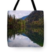 Echo Lake Early Autumn Reflection Tote Bag