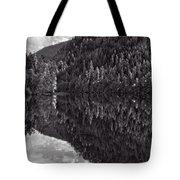 Echo Lake Reflection Black And White Tote Bag
