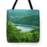 Edersee Lake Surrounded With Forest Tote Bag