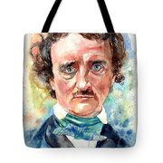 Edgar Allan Poe Portrait Tote Bag