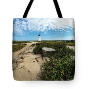 Edgartown Lighthouse Marthas Vineyard Tote Bag