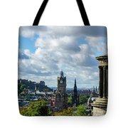 Edinburgh Castle From Calton Hill Tote Bag