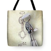 Eggbeater With Antique Eggbeater Patent Tote Bag