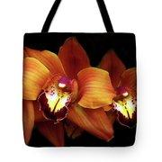 Orange Cimbidium Orchid Tote Bag