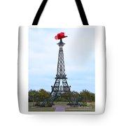 Eiffel Tower In Paris Texas Tote Bag