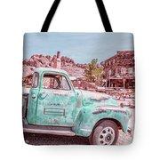 Eldorado Ghost Town Searchlight Nevada Pano Tote Bag