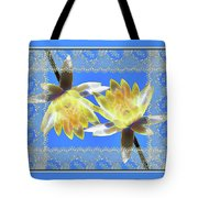 Electric Yellow Water Lilies Tote Bag