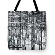 Electrical Substation Tote Bag by Juan Contreras