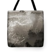 Elegant Coastal Splash Bermuda Tote Bag