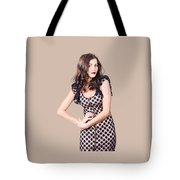 Elegant High Fashion Model In Autumn Clothes Tote Bag