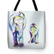 Elephants Side By Side Tote Bag