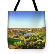 Elevated View Of Golf Course, Sun City Tote Bag