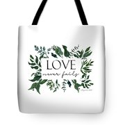 Emerald Wild Forest Foliage 2 Watercolor Tote Bag