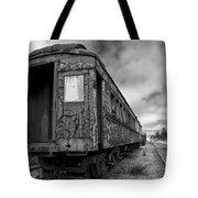 End Of The Line Bw Tote Bag