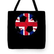 English Soccer Design British Flag Soccer Ball Tote Bag