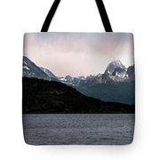View Over Ensenada Bay Of High Peaks In Tierra Del Fuego National Park, Ushuaia, Argentina Tote Bag