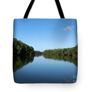 Erie Canal In Early Autumn Tote Bag