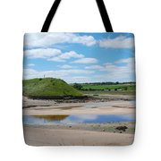 estuary on river Aln at Alnmouth Tote Bag
