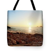 Evening Glow At Porth Nanven Tote Bag