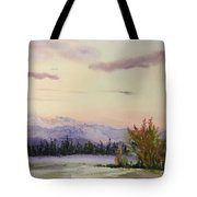 Evening In The Mountains Tote Bag
