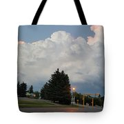 Evening Lightning Storm Illuminates The Sky Tote Bag