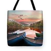 Evening On The Lake Tote Bag
