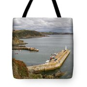 Evening Over Mevagissey Harbour  Tote Bag