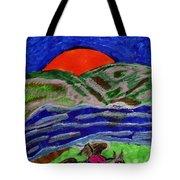 Evening Ride Tote Bag
