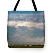 Evening Supercell And Lightning 012 Tote Bag