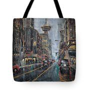 Evening Traffic II Tote Bag