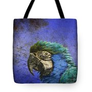 Blue Exotic Parrot- Pirates Of The Caribbean Tote Bag
