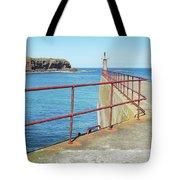 Eyemouth Harbour Pier Entrance Tote Bag