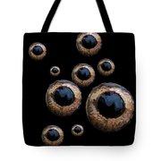 Eyes Have It Black Tote Bag