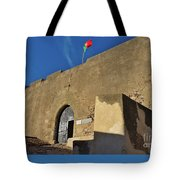 Facade Of The Medieval Castle Of Castro Marim Tote Bag