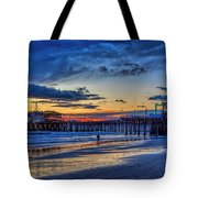 Fading To The Blue Hour - Ferris Wheel Tote Bag