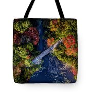 Fall Aerial With Bridge Tote Bag