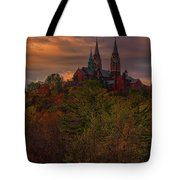 Fall Clouds Over Holy Hill Tote Bag