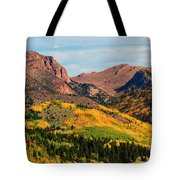 Fall Colors On The North Face Of Pikes Peak Tote Bag