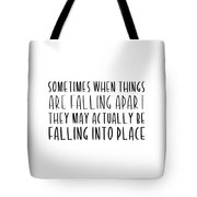 Falling Quote Tote Bag