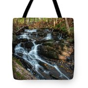 Falling Waters In October Tote Bag