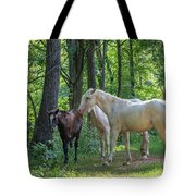 Family Of Horses Tote Bag