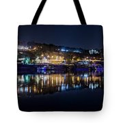 Fantastic Belgrade Night Reflection Tote Bag