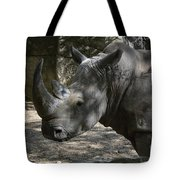 Fantastic Profile Of A Rhino With A Long Horn Tote Bag