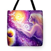Fantasy Painting About The Flight Of A Dream In The Universe Tote Bag